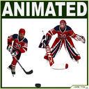 Hockey Player and Hockey Goalkeeper CG