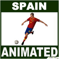 3d spain soccer player cg
