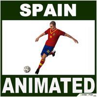 3d spain soccer player cg