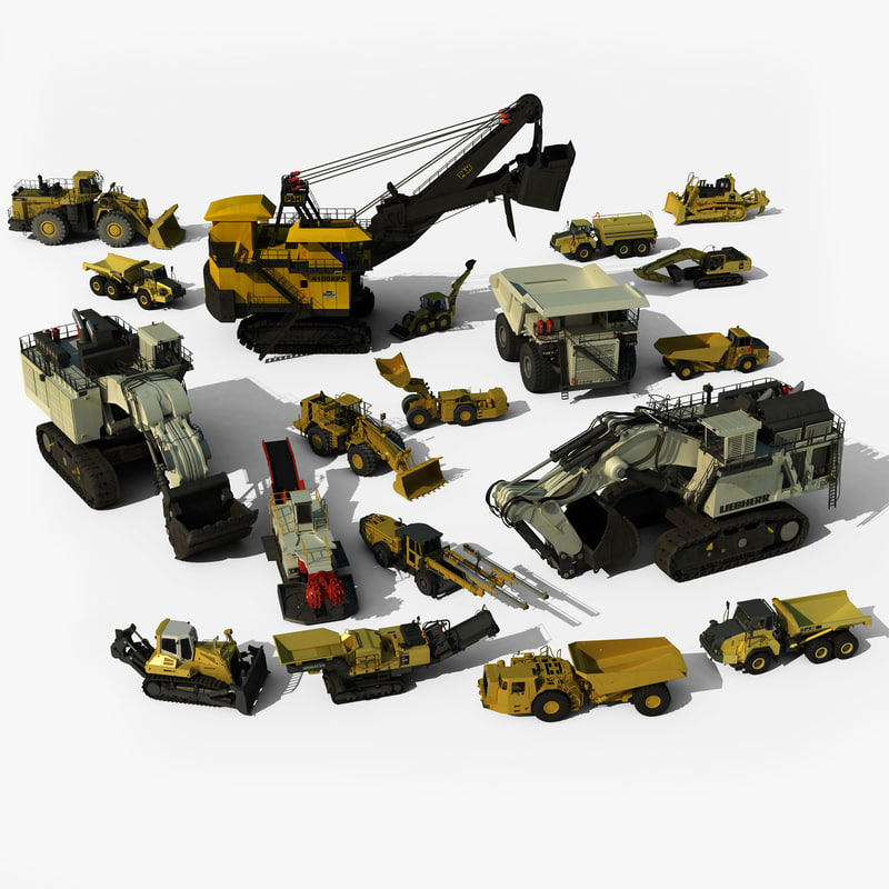 3d mining vehicles