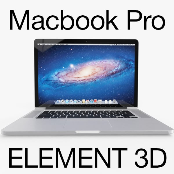 rigged apple macbook pro 3d 3ds
