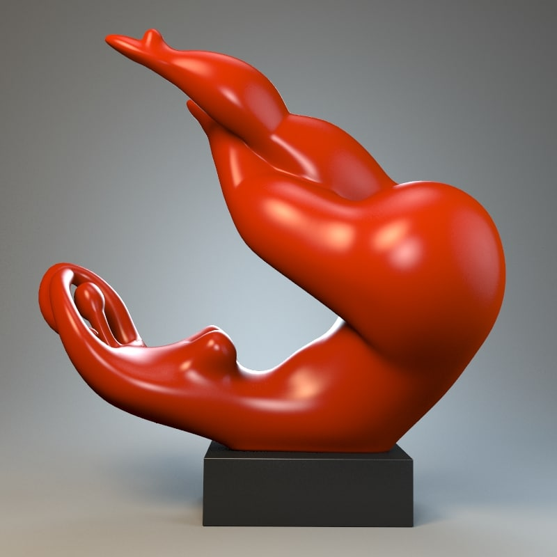 sculpture playful mood 3d max