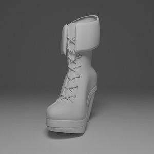 3d female boot model