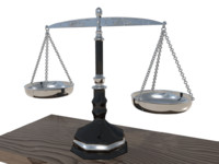 3d model scales justice