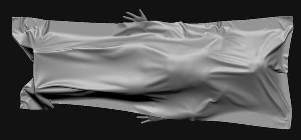 3d max dead body ground