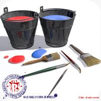 c4d paint buckets