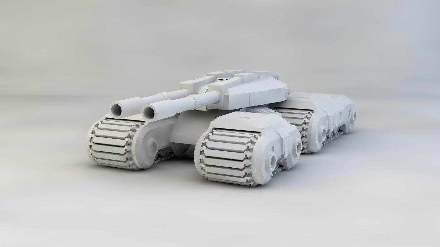 cac tank mammoth 3d model