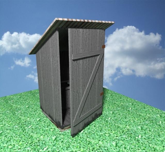 3dsmax old latrine