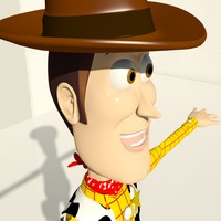 character woody male 3d max