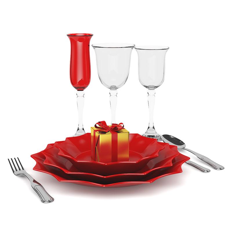 3d dining set christmas