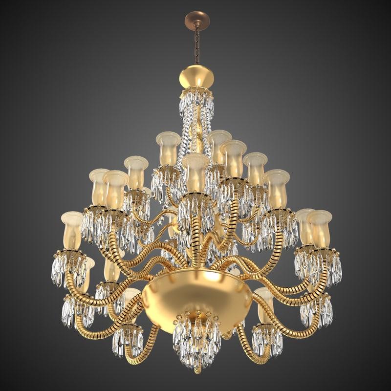 3d chandelier big