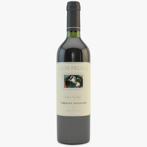 red wine 3d model