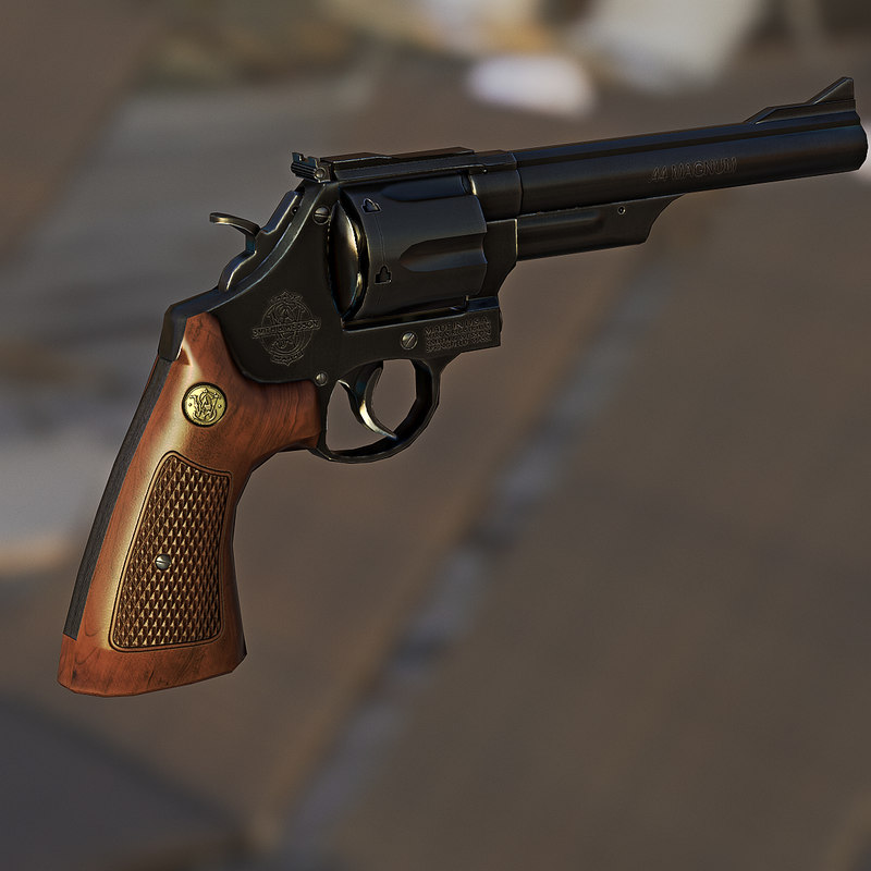 smith wesson 29 revolver obj