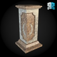 3dsmax pedestal