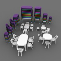 plastic table chair set