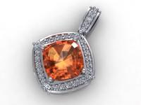 diamond pendant 3d 3dm