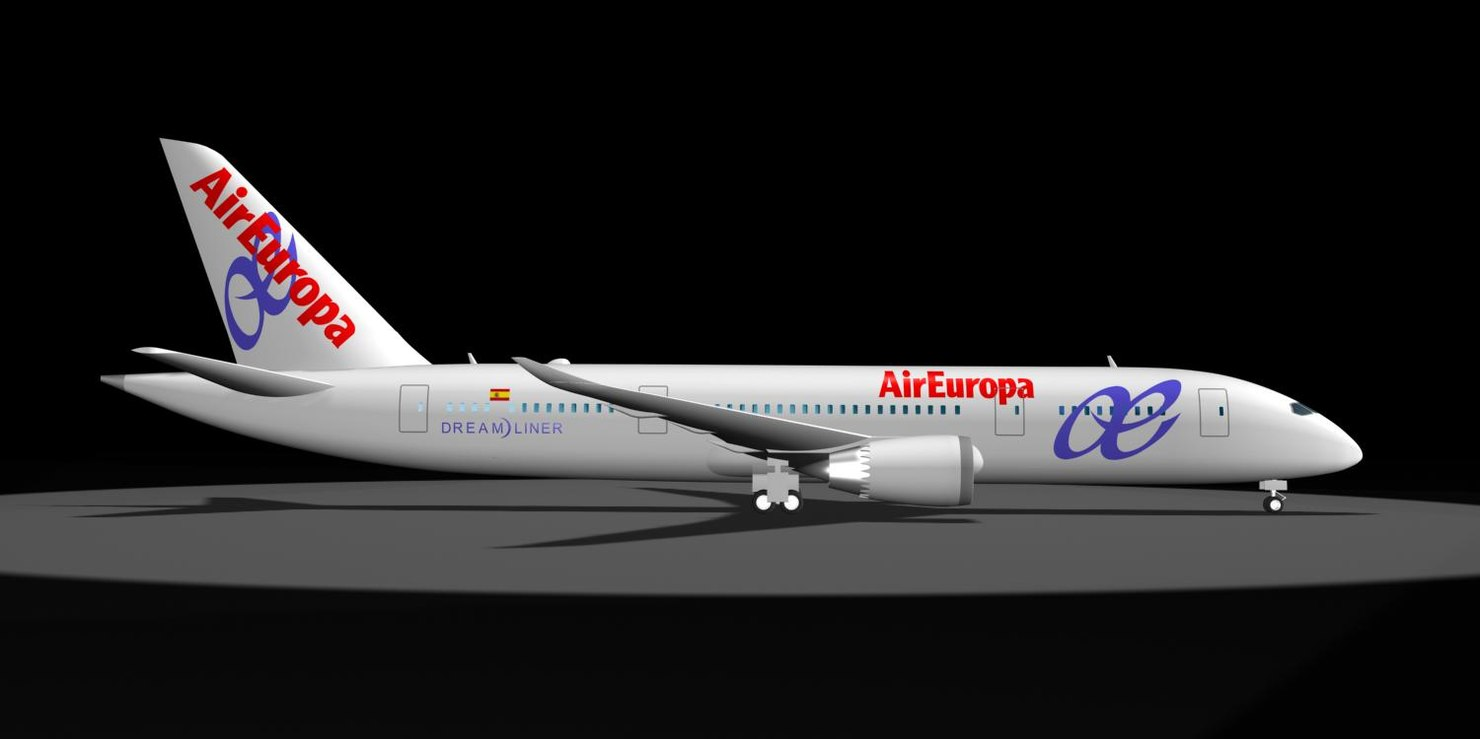 air europa 787-8 dreamliner 3d model