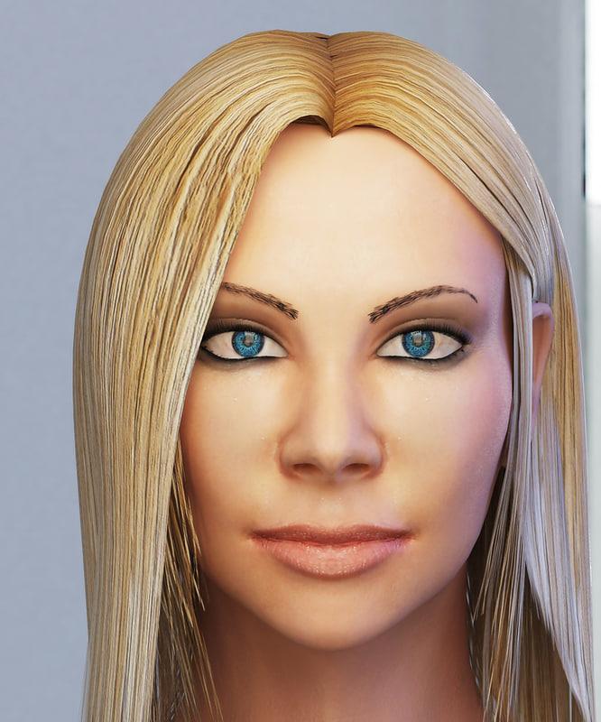 3ds max woman head