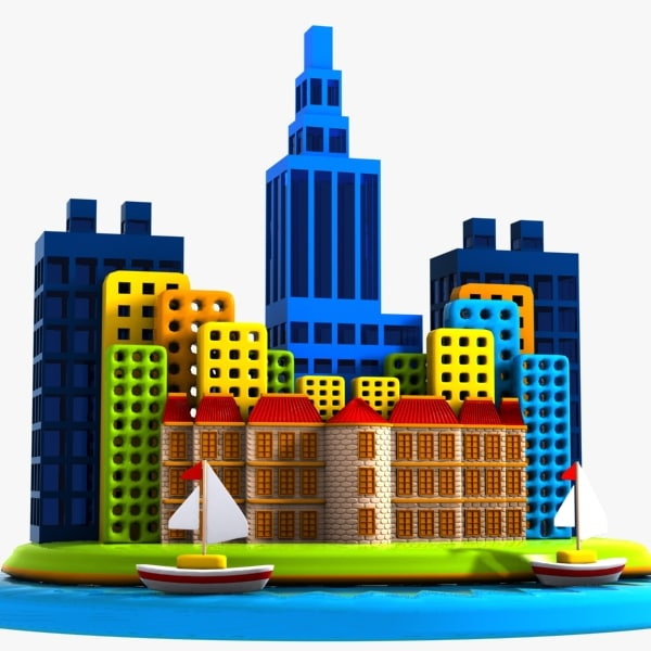3d model car city island