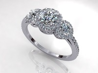 Halo Side Diamond Ring R3