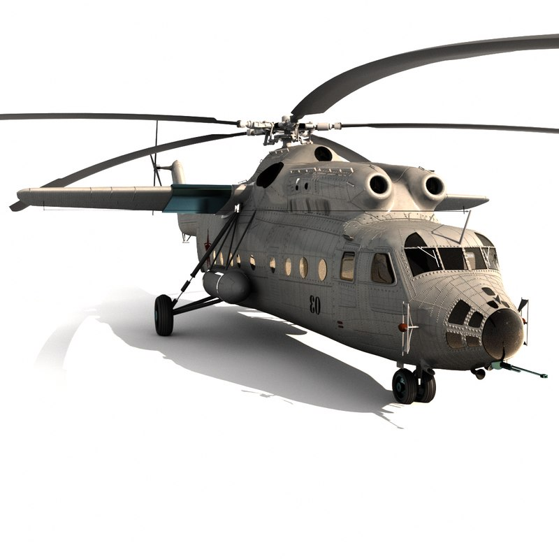 mil mi-6 transport helicopter 3d model