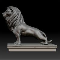 Lion Statue Zbrush