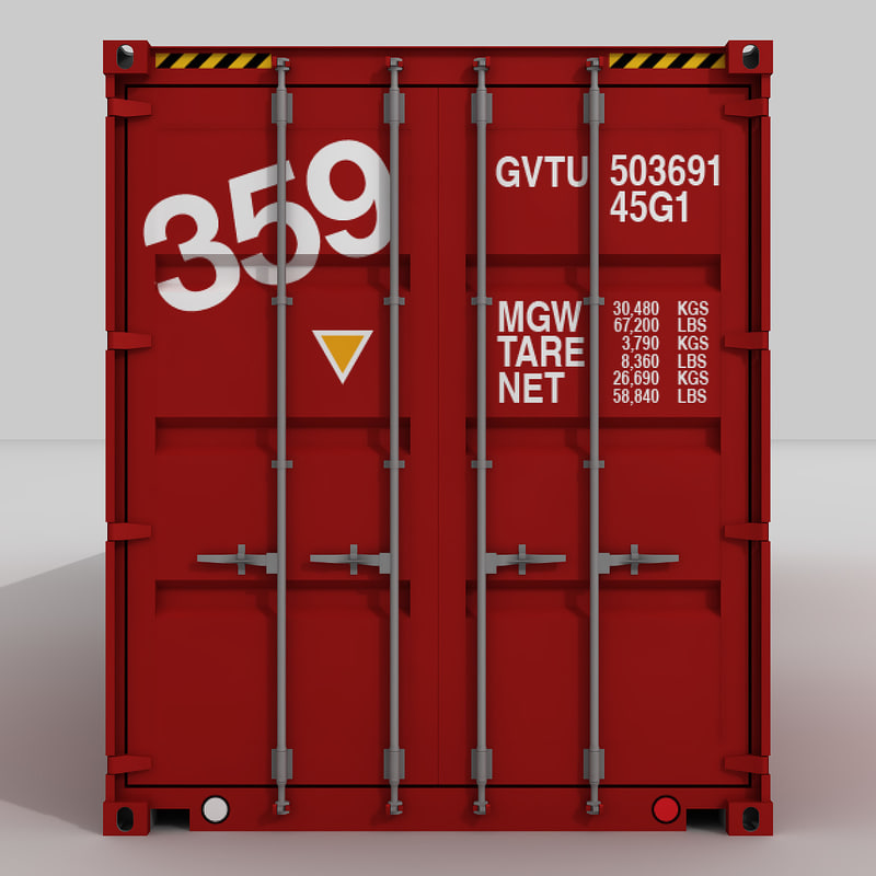 40 Shipping Container 3d Model