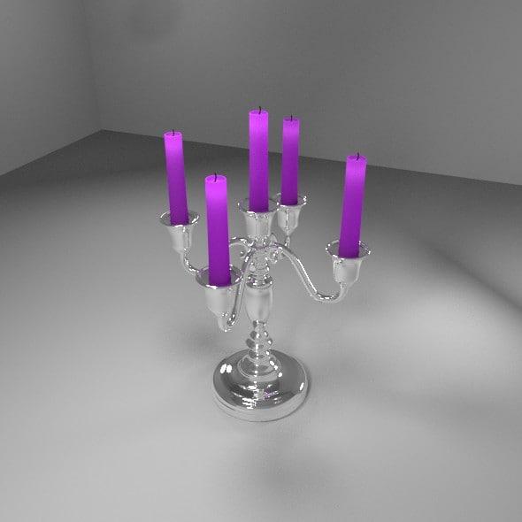 3d chrome candlesticks