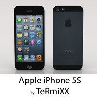 3d low-poly apple iphone 5s model