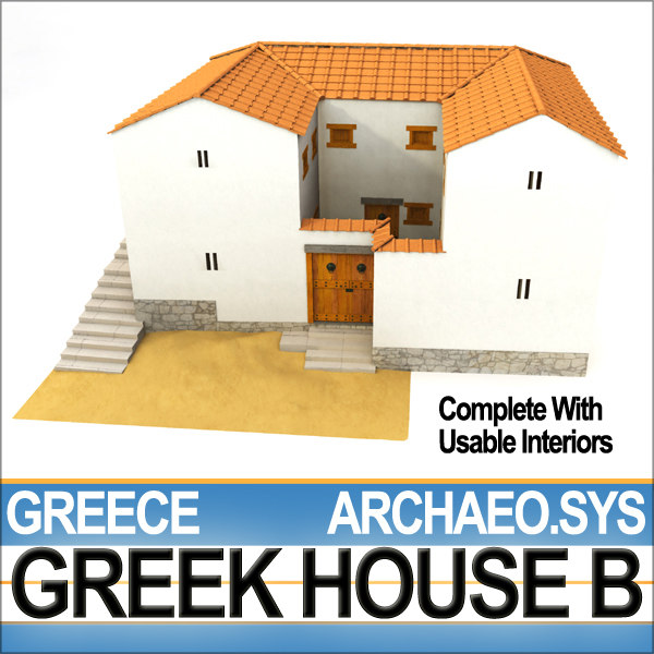 3d ancient greek house b