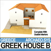 3d ancient greek house b