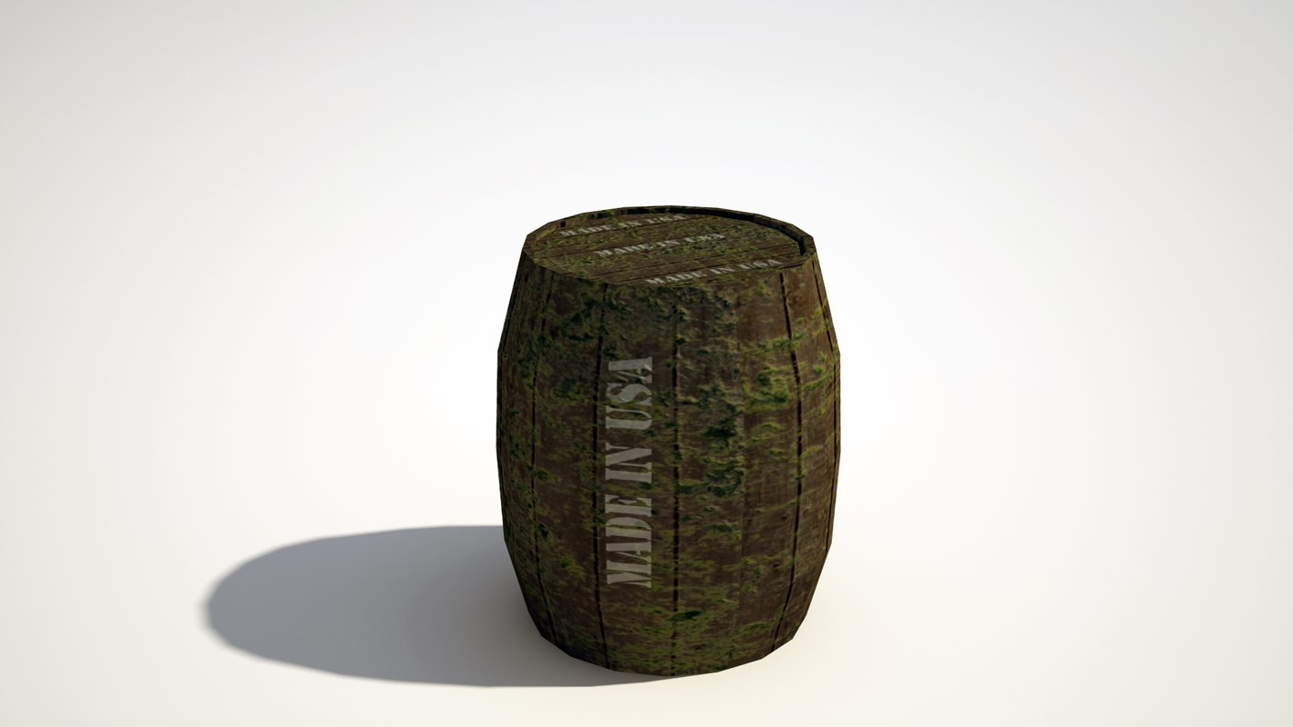 barrel include 3d model