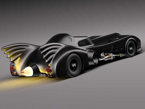 3d batmobile 1989 jet car model