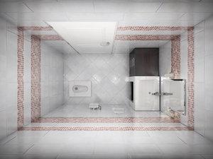 3d wc scene interior complete