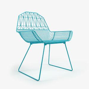 3d farmhouse chair model