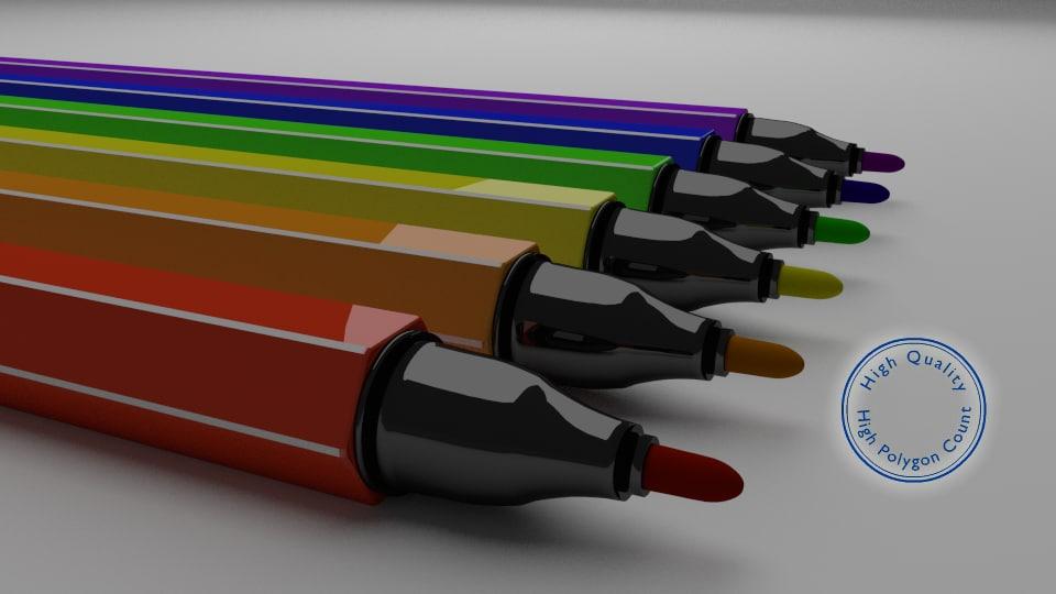 3d felt pen model