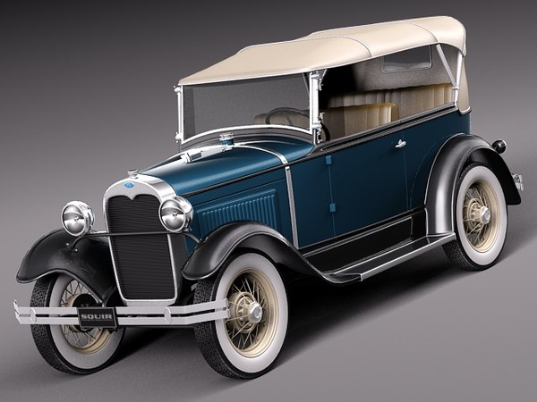 3d model car v8 antique 1930