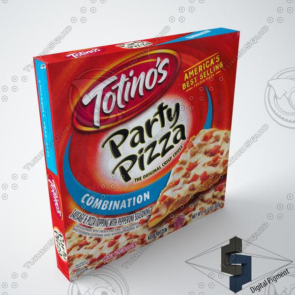 3d totino s combination pizza model