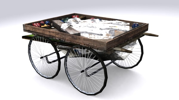 india haath rickshaw 3d max