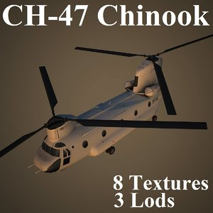 ch-47 chinook 3d model