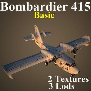 bombardier basic aircraft 3d model