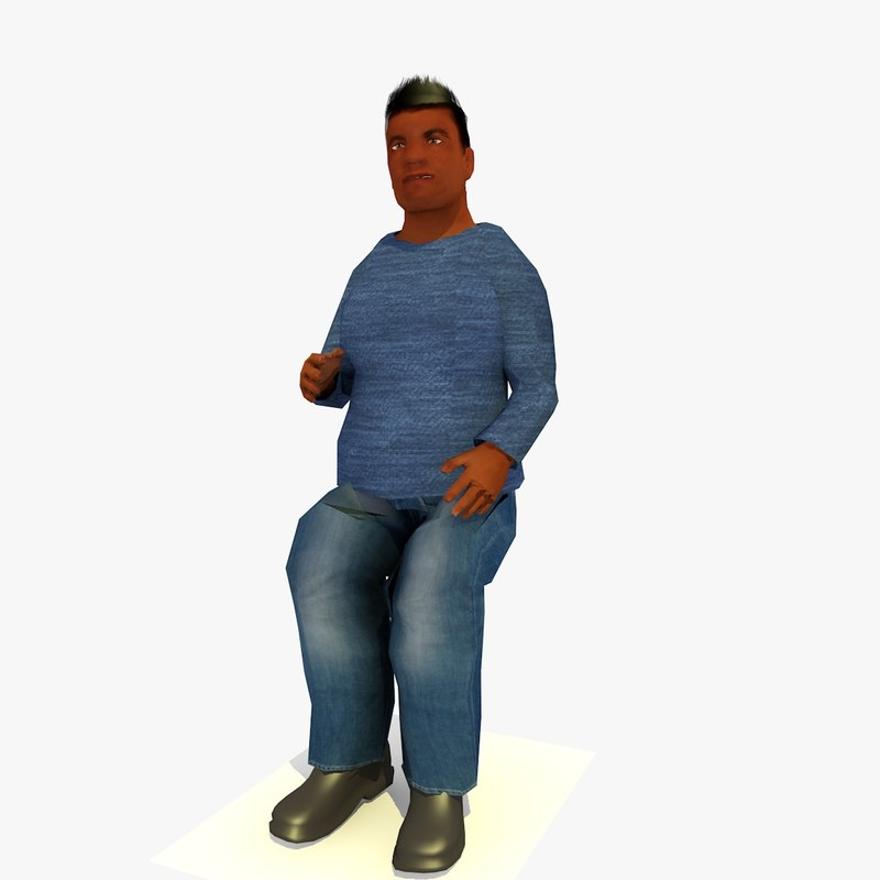 3ds max realistically african male d