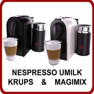 pack nespresso umilk krups 3ds