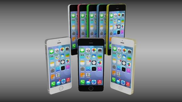 iphone 5s 5c obj