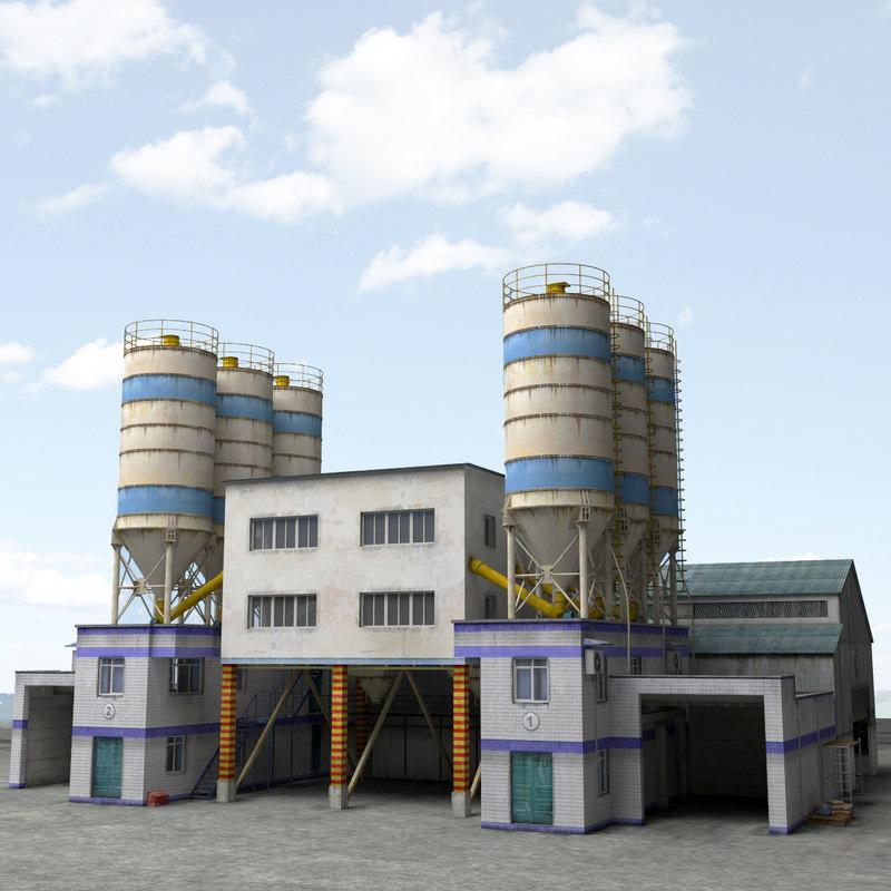 plant factory area 3d max