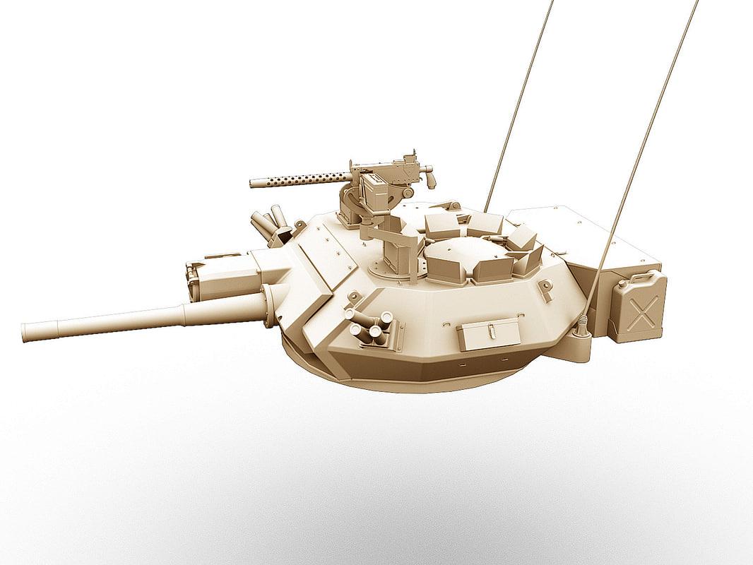 3d gun turret scorpion model