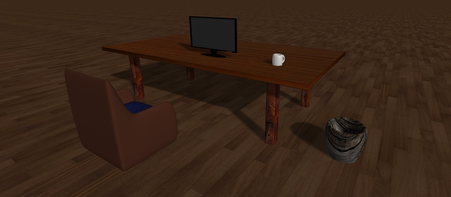 furnitures chair table 3d model