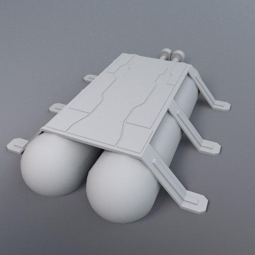 3d storage tanks brace model