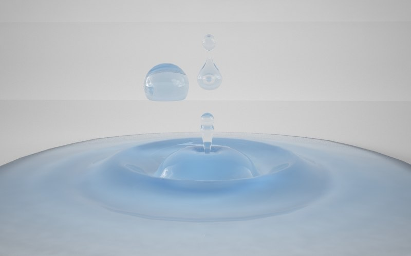 drops pack water surface 3d max