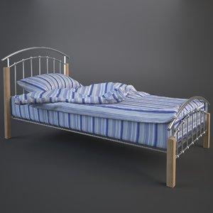 3d model duvet pillow linen single